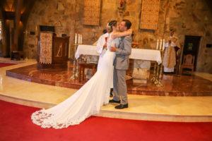 Bolton, wedding, kiss